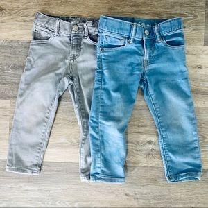 Baby Gap 2T Slim Fit Jeans - Sky Blue & Gray